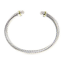David Yurman Cable Classics Sterling Silver 14K Yellow Gold Diamond Bracelet