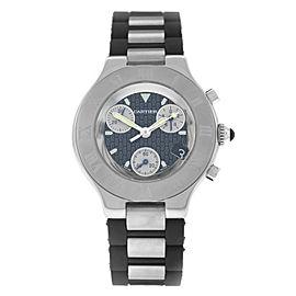 Cartier Chronoscaph 2424 38mm Mens Watch