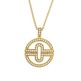 Bulgari Parentesi 18K Yellow Gold Diamond Necklace