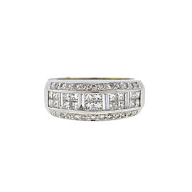 18K White Gold Diamond Ring Size 6.75