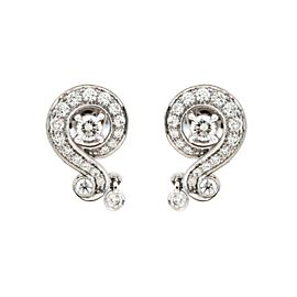 Van Cleef & Arpels 18K White Gold Diamond Earrings