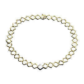Tiffany & Co. Paloma Picasso 18K Yellow Gold Platinum Diamond Necklace