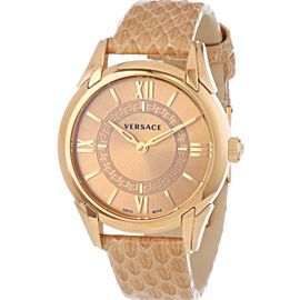 Versace Dafne VFF02 0013 Gold Tone Steel Quartz 33MM Watch