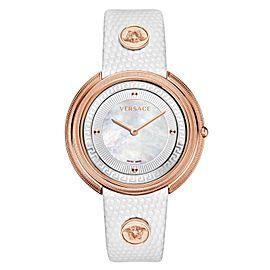 Versace THEA VA703 0013 Gold Tone MOP Quartz 39MM Watch
