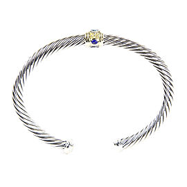 David Yurman Renaissance 14K Yellow Gold, Sterling Silver Topaz Bracelet