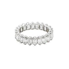 18K White Gold 3.45 Ct G VVS1 Baguette Diamonds Eternity Band Ring Size 5.25
