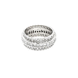 14K White Gold 4.5CT H SI1 Round Princess Diamond Eternity Band Ring Size 8.75