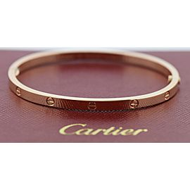 Cartier 18K Rose Love Bracelet SM Size 16