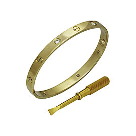 Cartier Love Bracelet 18K Yellow Gold Diamond