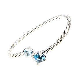 David Yurman Chatelaine Sterling Silver Topaz Bracelet