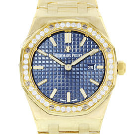 Audemars Piguet Royal Oak 67651ba.zz.1261ba.02 33mm Womens Watch