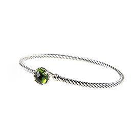 David Yurman Chatelaine Sterling Silver Peridot Bracelet