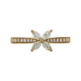 Tiffany & Co. Victoria 18K Rose Gold Diamond Ring Size 7