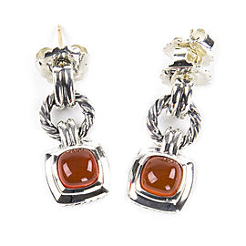 David Yurman Renaissance Sterling Silver Carnelian Earrings