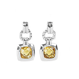 David Yurman Renaissance Sterling Silver Citrine Earrings