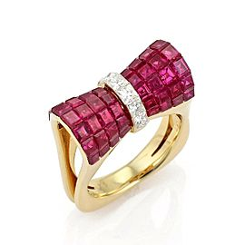 Diamond, Ruby Ring Size 7