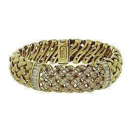 Tiffany & Co. Vannerie 18K Yellow Gold Diamond Bracelet