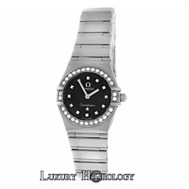 Lady Omega Constellation My Choice Steel Diamond Quartz Watch