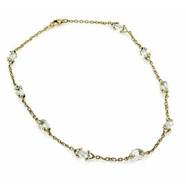 Judith Ripka 18K Yellow Gold Diamond, Iolite, Amethyst Necklace