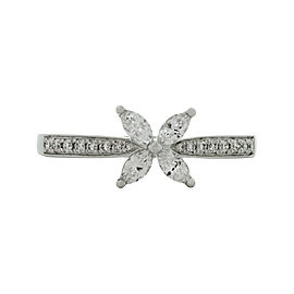 Tiffany & Co. Victoria Platinum Diamond Ring Size 7