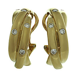 Cartier Trinity Earrings 18K Yellow Gold Diamond