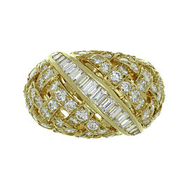 Tiffany & Co. Vannerie 18K Yellow Gold Diamond Ring Size 6.5