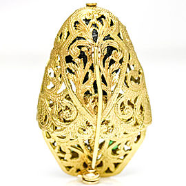 Blackamoor 18 Karat Yellow Gold Emerald Brooch