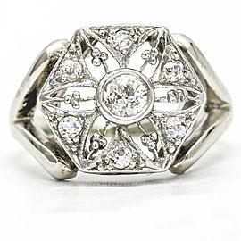 .43 Carat 14k White Gold Platinum Diamond Edwardian Ring