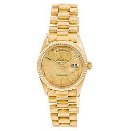 Rolex Day-Date 1803 Mens Automatic Vintage Watch 18K YG Florentine Finish 36mm