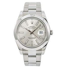 Rolex Datejust II 116300 Mens Automatic Watch With 2013 Papers Stainless 41mm