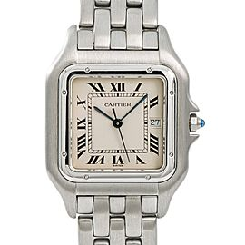 Cartier Panthere Jumbo Vintage 130000C Mens Quartz Watch Stainless Steel 29mm