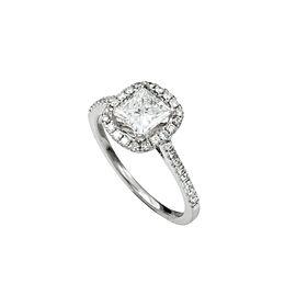 18K White Gold 1.04 Ct H-I SI2 Enhanced Clarity Diamond Ring 3.1 Grams Size 6.5