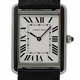 Cartier Tank Solo XL WSTA0028 Stainless Steel Leather