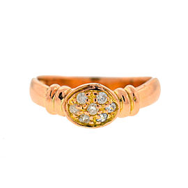 18k Rose Gold Oval Diamond Stack-able Ladies Ring