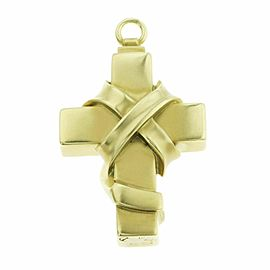 Auth Kieselstein Cord 18K Yellow Gold Vintage 1991 Bound Cross Pendant 47.5 Gra