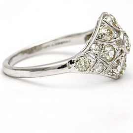 1.93 Carats Art Deco Platinum Diamond Antique Ring