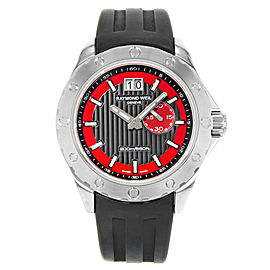 Raymond Weil RW Sport Rubber Black Red Dial Steel Mens Watch 8300-SR1-20041