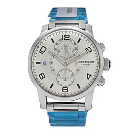Mens Montblanc Twinfly 109133 Steel 43MM Flyback Chrono