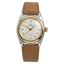 Rolex Bubble Back 3133 Mens Automatic Vintage Watch 18K YG 32mm