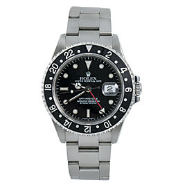 Rolex GMT-Master II 16710 Black Mens Automatic Watch Stainless Steel 40mm