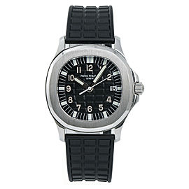 Patek Philippe Aquanaut 5064 Mens Quartz Watch With Papers SS 36mm