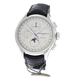 Mens Baume & Mercier Clifton MOA 10278 Steel Chrono Automatic Watch