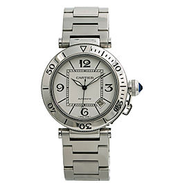 Cartier Pasha Seatimer W31080M7 2790 Men's Automatic Watch Stainless Steel 40MM