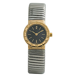 Bvlgari Tubogas BB 23 2T Womens Quartz Watch 18k Two Tone SS 23mm