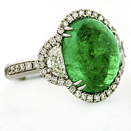 Crivelli 9.03 ct Emerald and Diamond 18k White Gold Ring