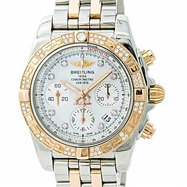 Breitling Chronomat 41 CB0140 Mens Automatic Watch Mop Dial Chronograph 40mm