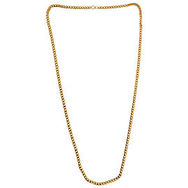 18k Yellow Gold Solid Curb Chain Necklace