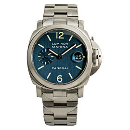 Panerai Luminor Marina PAM00120 Blue Dial Men's Automatic Watch Stainless 40MM