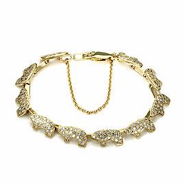 Golden Bear 3 Carats Pave Diamond 10 Baby Bear Link Bracelet