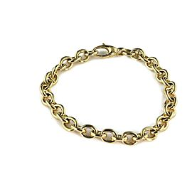 "Gucci 18k Yellow Gold Oval & Mariner Link Bracelet 9"" Long"